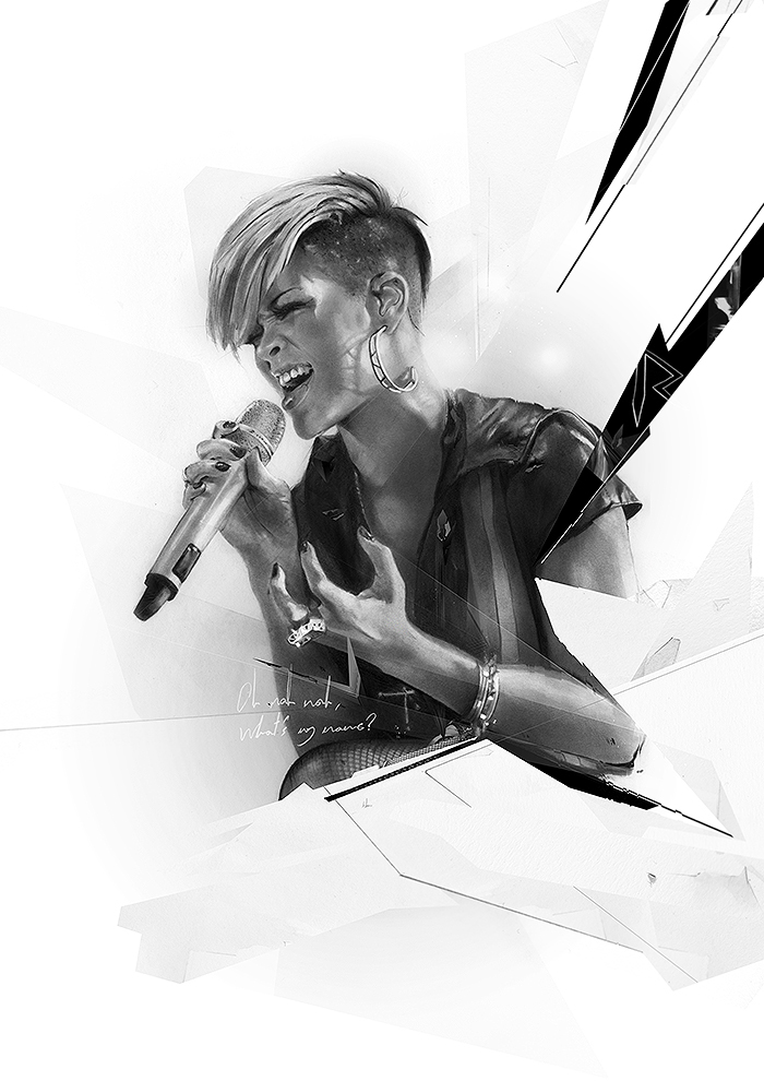 02-Rihanna-Alexis-Marcou-Traditional-and-Digital-Celebrity-Drawings-www-designstack-co