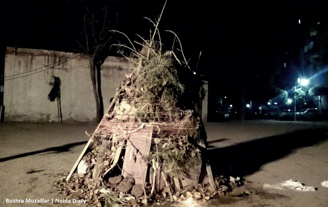 Noida Diary: Holi Bonfire Ready to be Lit
