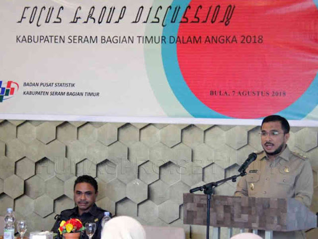 Fachri Husni Al Katiri Buka FGD Seram Bagian Timur Dalam Angka 2018