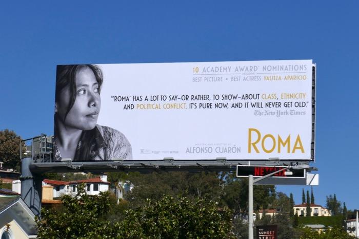 Yalitza Aparicio Roma Oscar nominee billboard