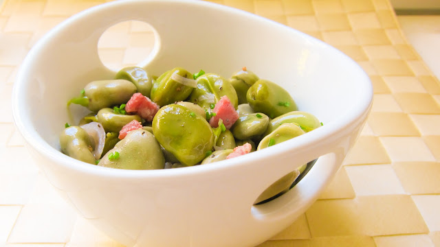 whole fresh fava bean pressure cooker saute