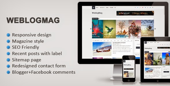 pro photo blog templates - weblogmag responsive professional