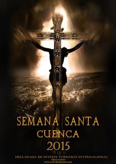 """Cartel de Semana Santa de Cuenca 2015 editado por el Foro Nazareno """"Jesús Amarrado"""""""