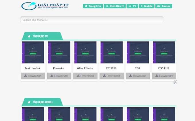 Template Blogspot làm trang download game phần mềm miễn phí