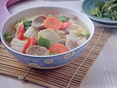 Gambar Resep Sayur Sawi Putih Masak Bakso