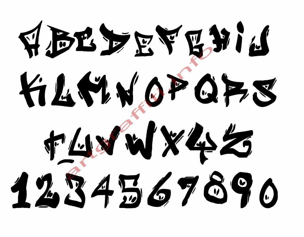 graffiti_es: Graffiti Fonts