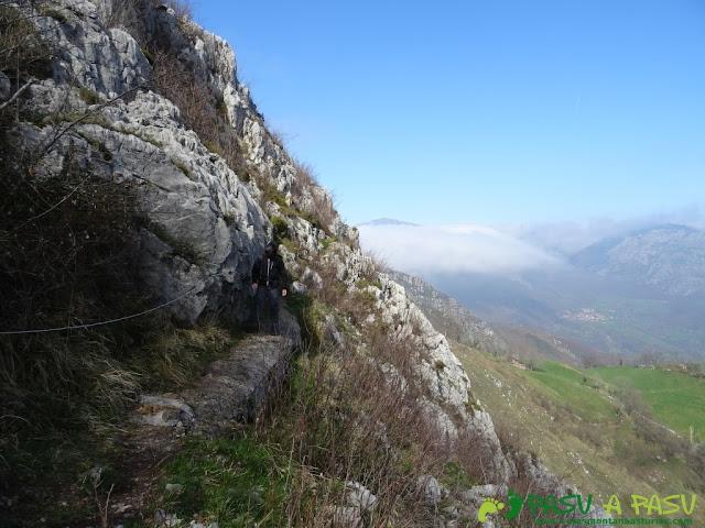 Ruta Sierra del Crespón: Salida del pasamanos