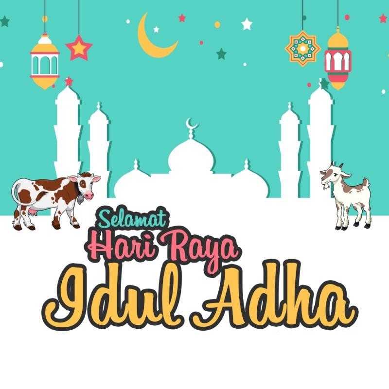 Gambar ucapan selamat hari raya idul adha terbaru 2020 1441 Hijriah lebaran haji animasi bergerak gif square instagram, persegi instagram