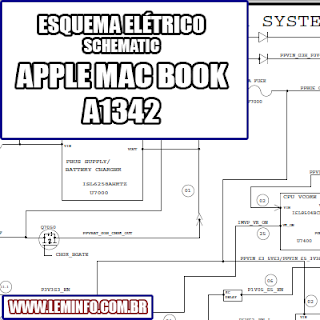 Esquema Elétrico Notebook Laptop Apple MacBook A1342 Manual de Serviço  Service Manual schematic Diagram Notebook Laptop Apple MacBook A1342    Esquematico Notebook Laptop Apple MacBook A1342