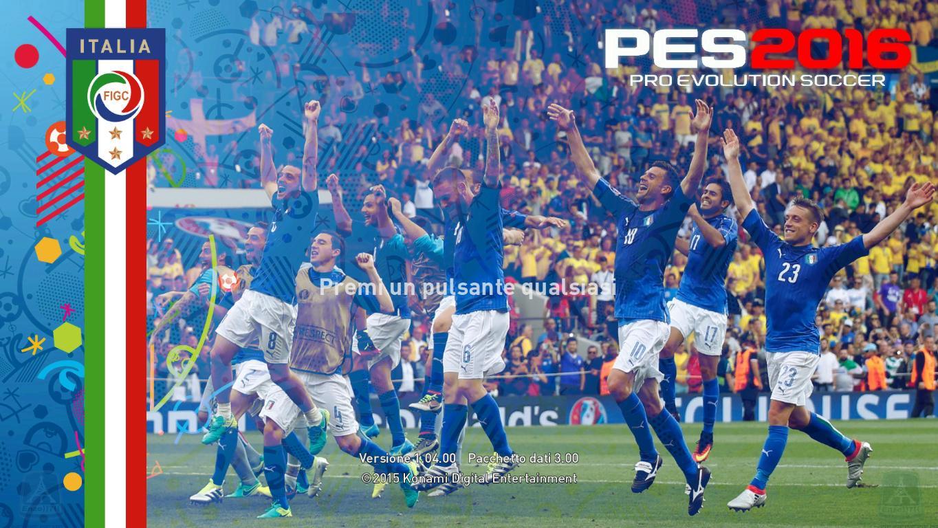 PES 2016 Graphic Menu Italia Euro 2016   Patch PES Terbaru