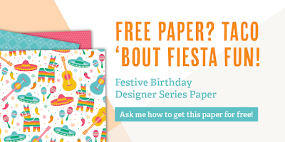 Festive Birthday Series Paper, Stampin' Up!, Stamping to Share