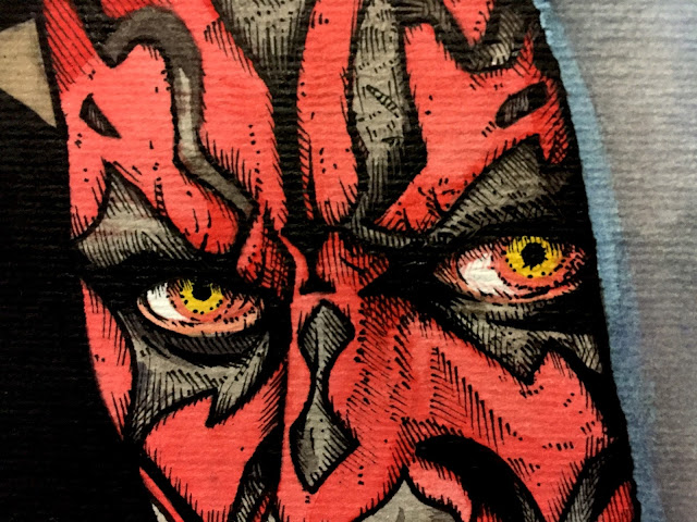 Darth Maul Watercolor and Inks Photo