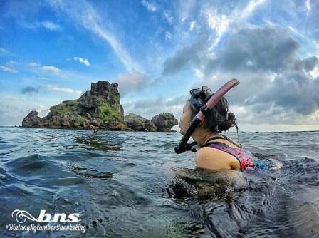 saat Snorkeling di Pantai Nglambor Gunung Kidul!