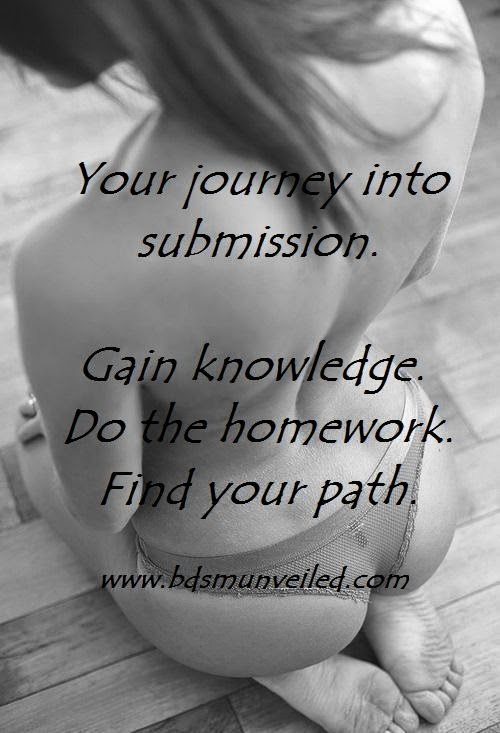 Your journey to submission. Find your path