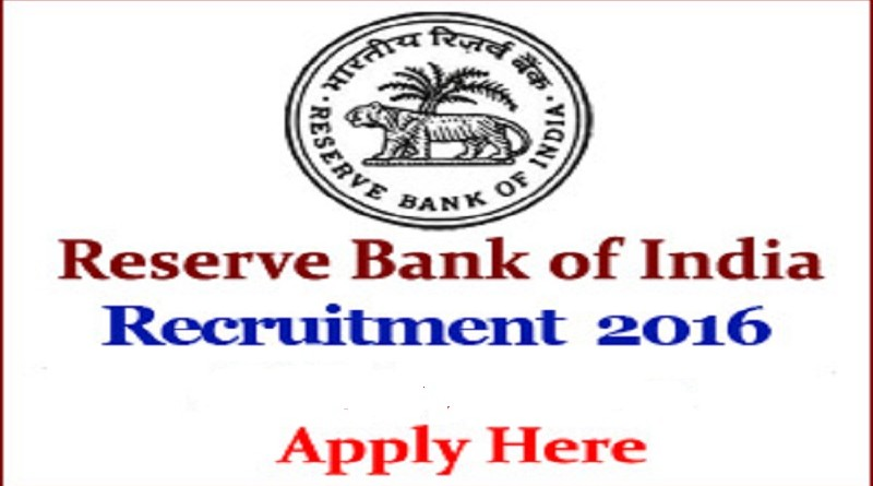 Reserve Bank of India Recruitment 2016 for Assistant Posts Apply Now