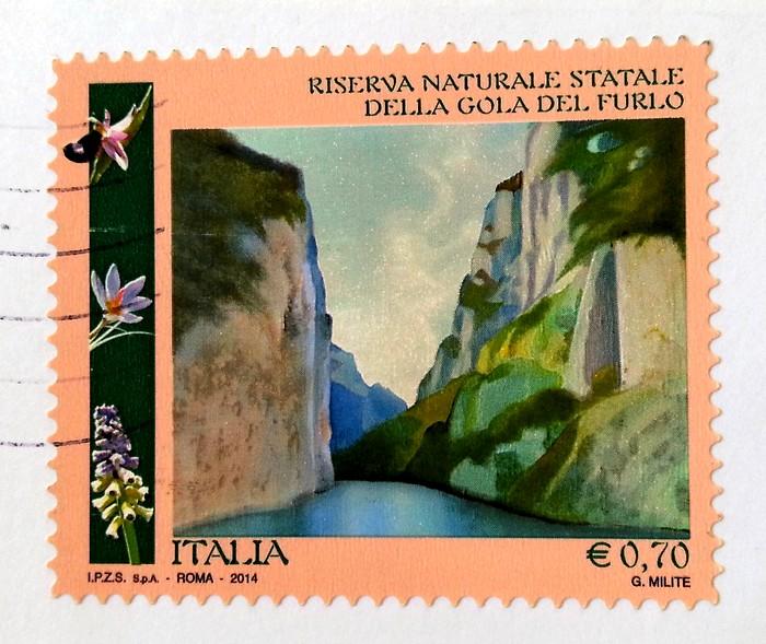 francobollo Riserva naturale Statale della Gola del Furlo