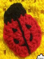 patron gratis aplique mariquita de crochet