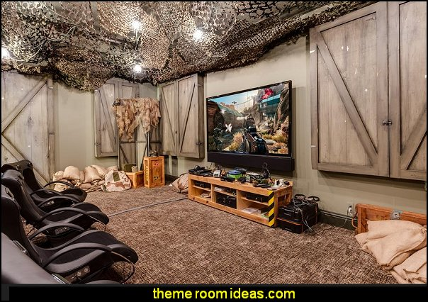 army Call of Duty bedroom ideas - army theme playrooms -  military  bedroom decorating ideas
