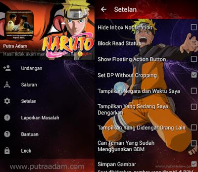 BBM Mod Naruto Apk