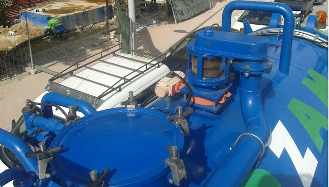 desatascar tuberías con camiones cisterna