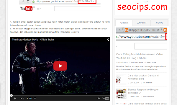 Cara Memasukan Video Youtube ke Postingan Blog