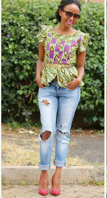 Ankara Tops For Jeans Latest Styles You Can Rock On Friday