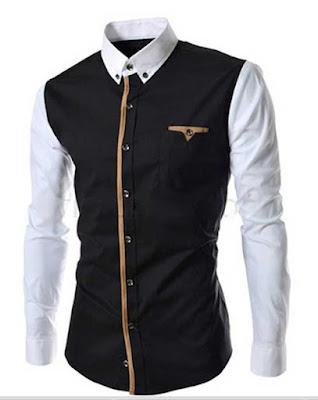 Baju Kemeja Pria Lengan Panjang Hitam