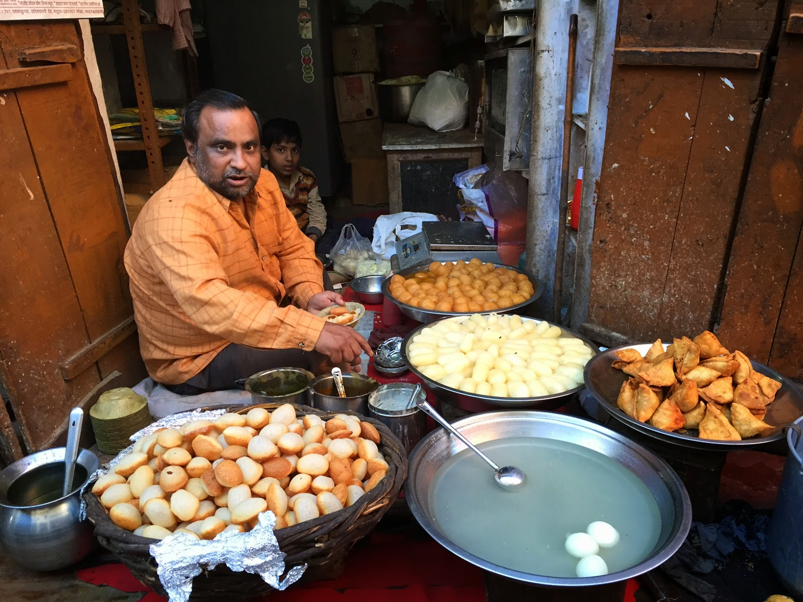Places to see in Mathura street food chaat pani puri