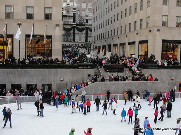 ice skating rink at Rockefeller Center in NYC