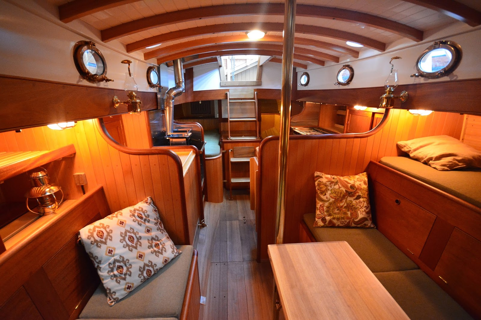 Building a 34 ft Lyle Hess Falmouth Cutter: Interior Photos