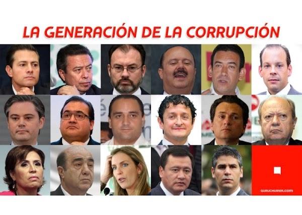 Ellos integran la generación más corrupta de políticos mexicanos, EPN los comanda.