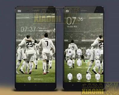 Kumpulan Tema MIUI Football Themes Mtz For Xiaomi Madrid FC