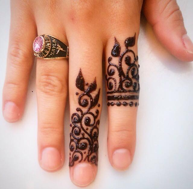 Nice-Looking Ring Mehndi Designs For Fingers