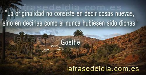 Citas famosas de Goethe