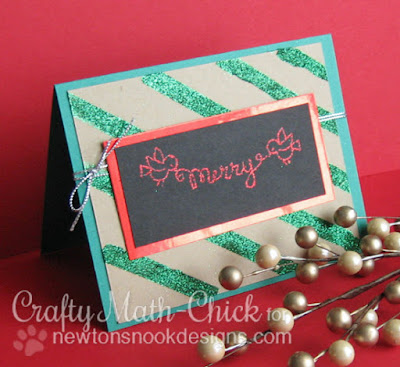 Merry Sparkly Christmas Card by Crafty Math Chick | Holiday Wishes & Winged Wishes by Newton's Nook Designs