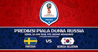 Prediksi Pertandingan Swedia vs Korea Selatan Piala Dunia 18 Juni 2018