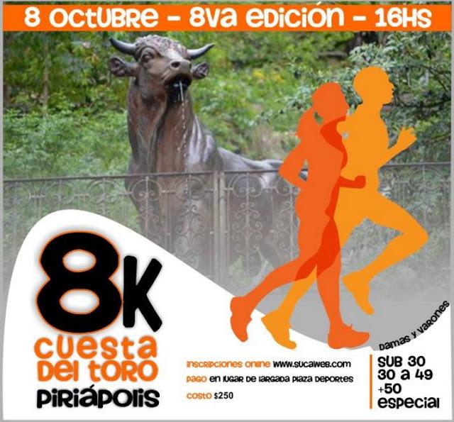 8k Cuesta del toro (Piriápolis, 08/oct/2016)
