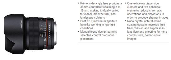 Samyang 10mm F/2.8 Lens for Nikon Mount