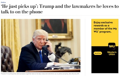 Calling Trump on telephone —  He just picks up.