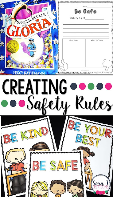 Setting up classroom rules is so important.  Talking about being safe is more fun with Officer Buckle and Gloria.  Don't forget to grab your free download!
