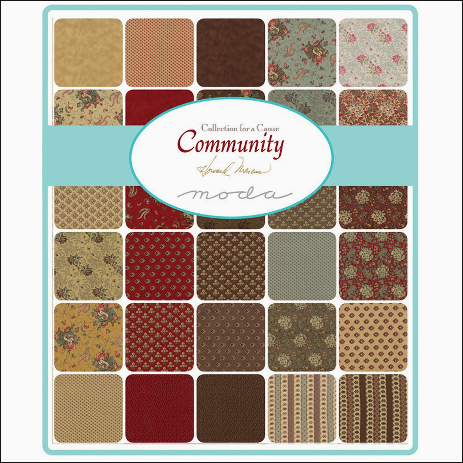 Moda COMMUNITY COLLECTIONS FOR A CAUSE Quilt Fabric by Howard Marcus for Moda Fabrics