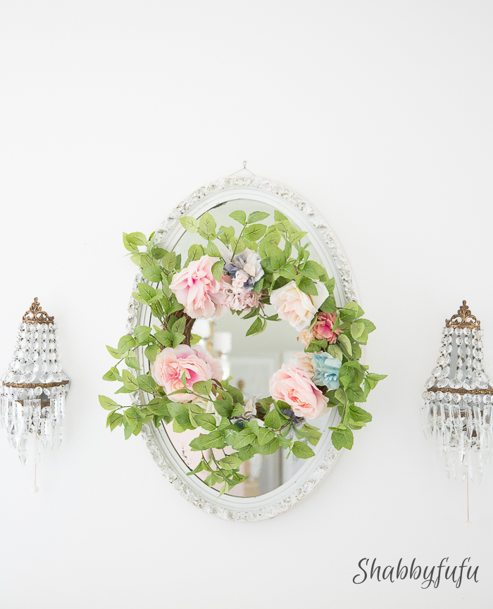 floral crown wreath french style