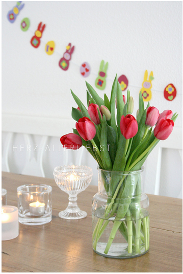 Easter Bunny Garland Hanging on the wall