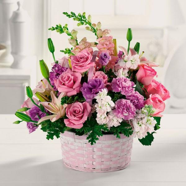 Flower Basket Arrangements Uk : H?nh nh gi hoa l ng p ch?c m sinh t