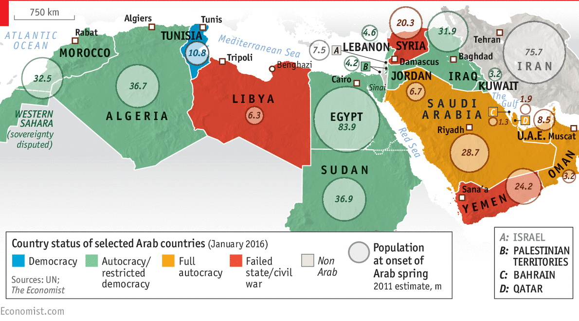 The Arab spring, five years on