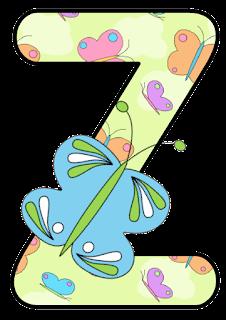 Abecedario con Mariposas. Alphabet with Butterflies.