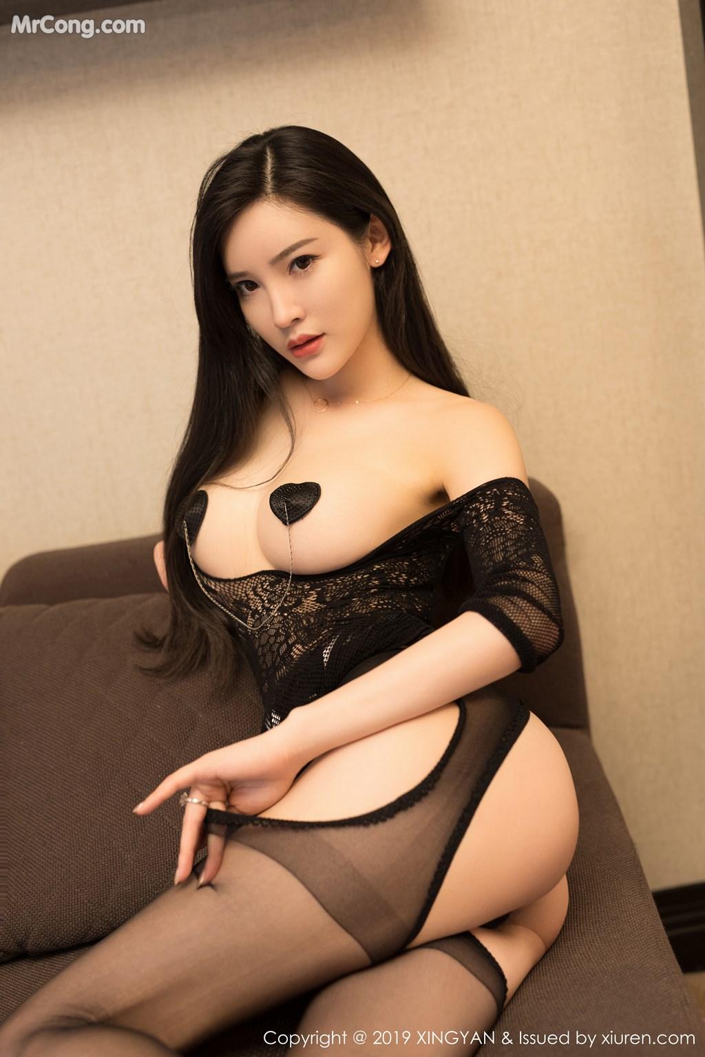 Image XingYan-Vol.121-He-Chen-Xi-MrCong.com-001 in post XingYan Vol.121: He Chen Xi (何晨曦) (49 ảnh)
