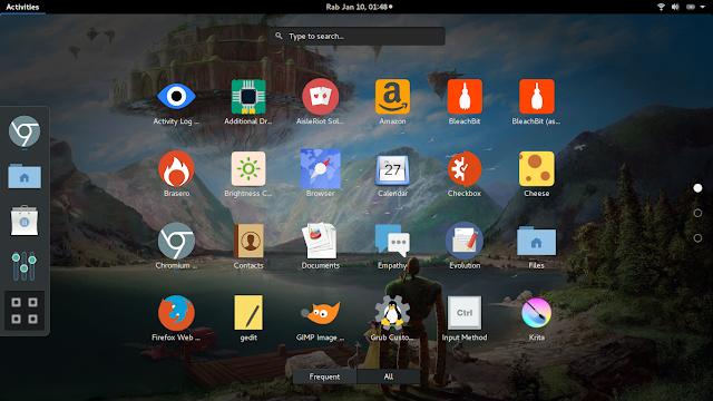 Tampilan Gnome 3 di ubuntu 16.04