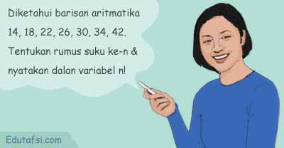 Contoh menentukan rumus suku ke-n barisan aritmatika