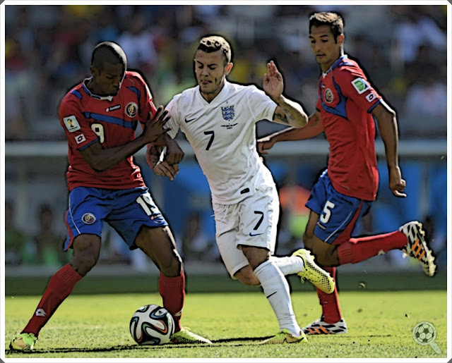 Jack Wilshere Joel Campbell Costa Rica England Celso Borges